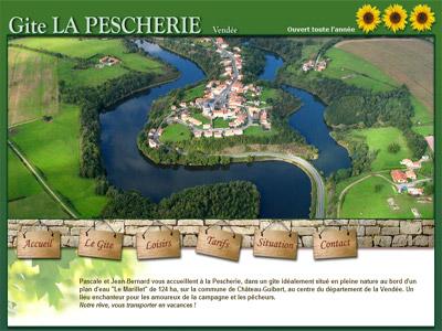 Site web Gîte La Pescherie