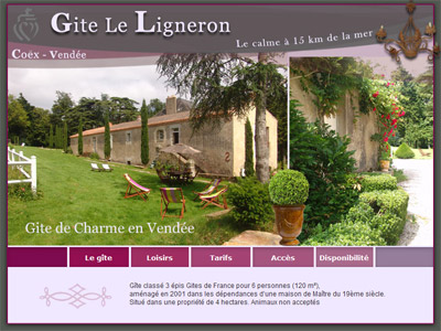 Site web Gîte Le Ligneron