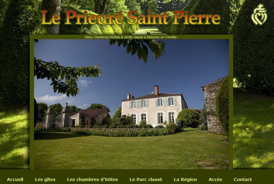Site web Le Prieuré Saint Pierre