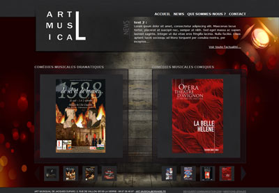 Site web Art Musical