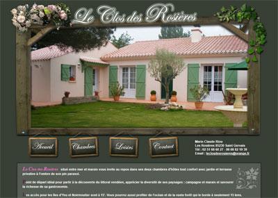 Site web Le Clos des Rosières