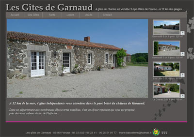 Site web Gites Garnaud