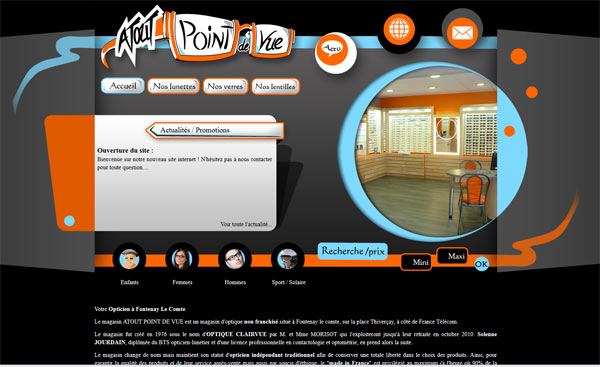 Site web Atout Point de Vue