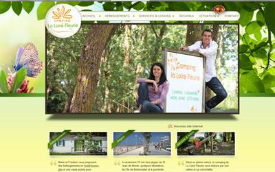 Site web Camping et Gite la Loire Fleurie