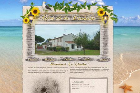 Site web Gites la Léonière
