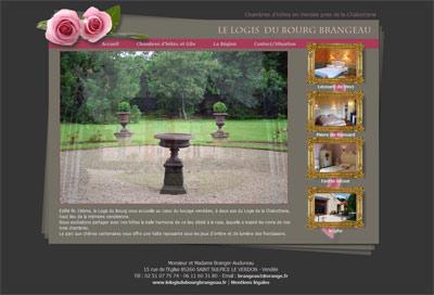 Site web Le Logis du Bourg Brangeau