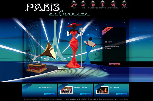 Site web Paris en Chanson