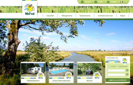 Site web Camping Le Merval