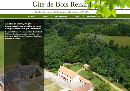 Site web Gîte de Bois Renard
