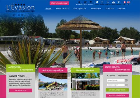 Site web Camping l'Evasion