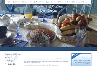 Site web Chambre d'hôtes Sud Vendée