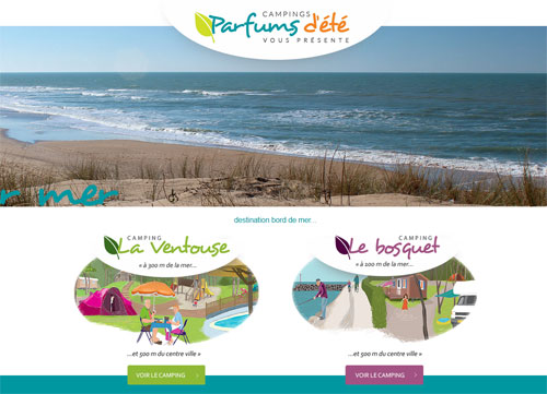Site web Campings Parfums d'été