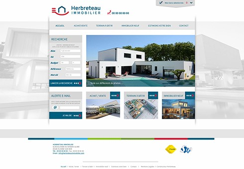 Site web Herbreteau Internet Vendée