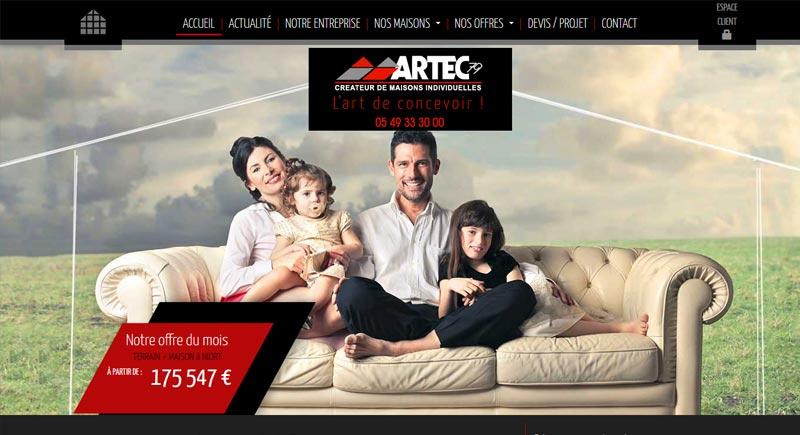 création site internet construction artec