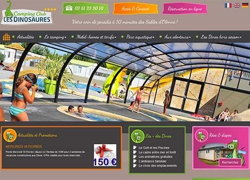 Création site internet les Dinosaures