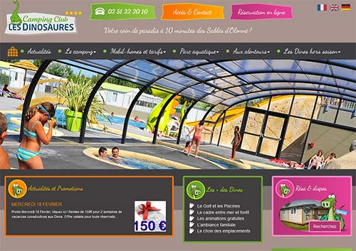 Création site internet camping les Dinosaures