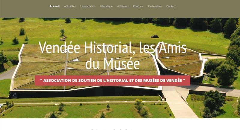 création site internet association amis historial