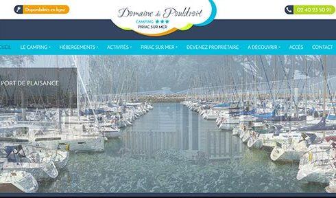Création site camping le Domaine de Pouldroit en Bretagne Sud