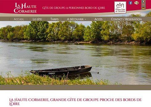 Création site Gite la Haute Cormerie