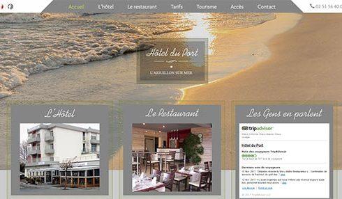 site hotel restaurant le bistrot du Port l'Aiguillon sur mer