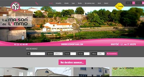 Création site Internet immobilier la maison de l'immo