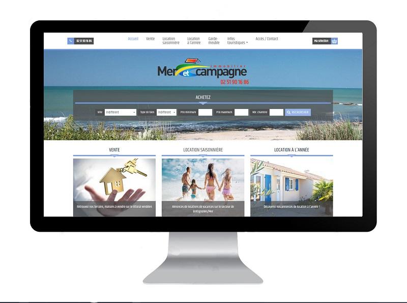 Site internet agence près de Noirmoutier en L'île