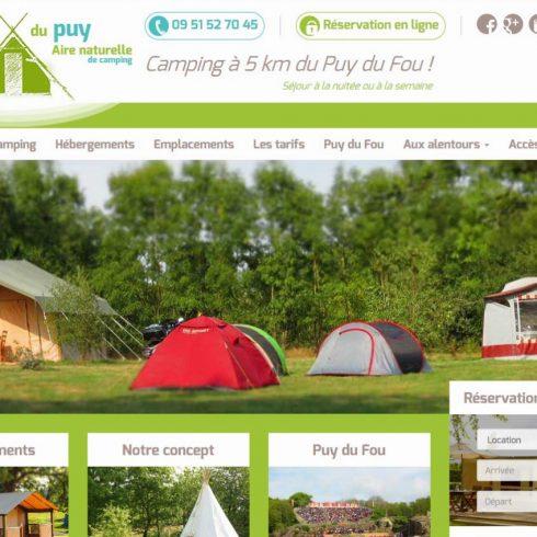 Création site l'étang du Puy en Vendée