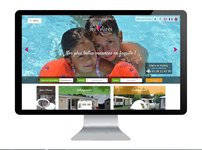 Création du site internet du camping Les Alizés