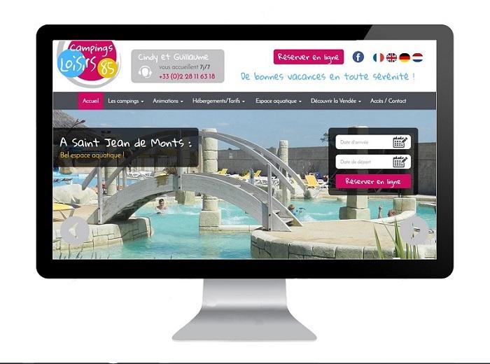 Création de site internet camping Vendée