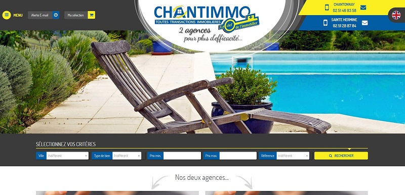 création site immobilier chantimmo