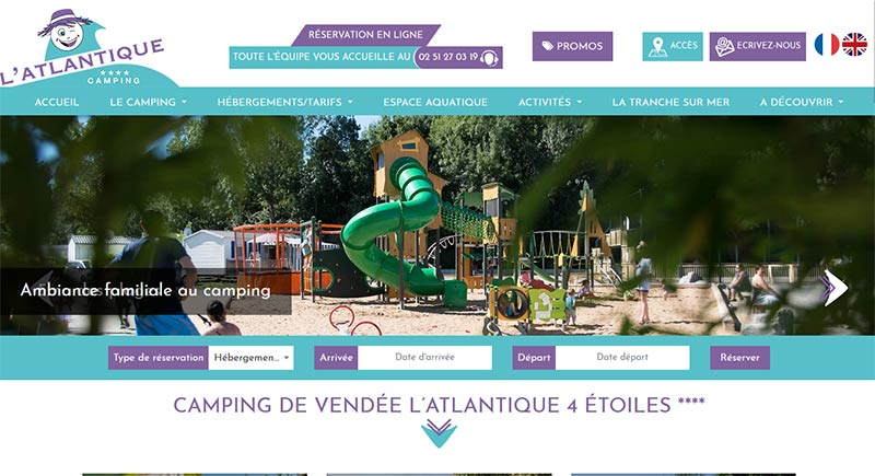 Site web camping-vendee-atlantique